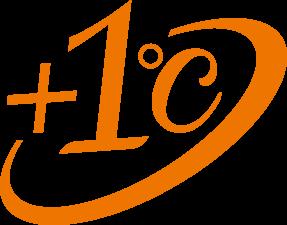 プラス1℃